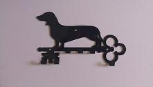 Wieszak na klucze z psem- dla tych co kochają psy- a zwłaszcza jamniki :)