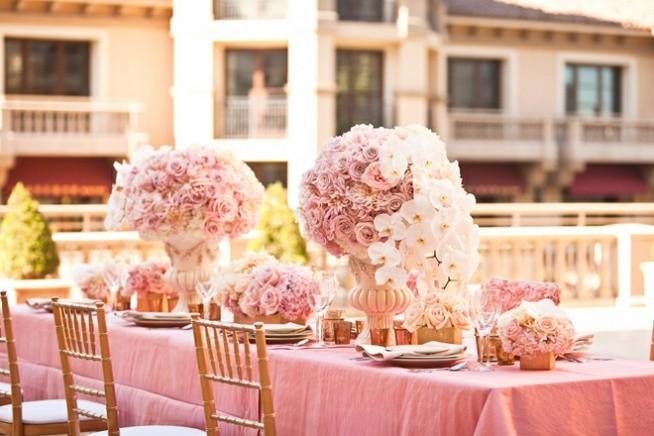 różowy ślub