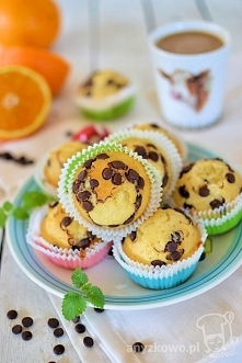 Muffinki z czekoladą bez użycia miksera