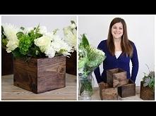 DIY Drewniana skrzynka na kwiaty