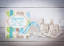 Dziennik maluszka personalizowany imię  data urodzenia prezent narodziny chrz...