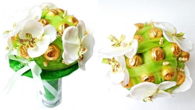 Słodki bukiet z wiśni w likierze. Do wyboru 15, 18, 30, 40, 50 cukierków bądź na indywidualne zamówienie. Idealna i smaczna alternatywa tradycyjnego bukietu. Więcej na kwiatyupominki.net