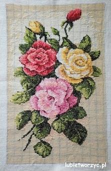 Róże - haft krzyżykowy