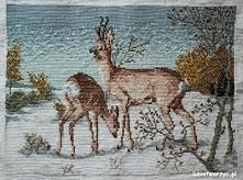 Krajobraz zimowy - haft krzyżykowy