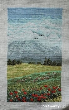 Krajobraz górski - tryptyk cz. 2 - haft krzyżykowy