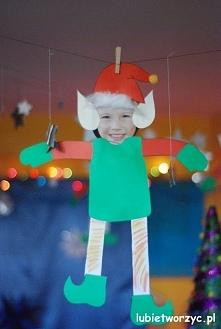 Świąteczne elfy - zajęcia plastyczne z dziećmi