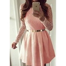 Pudrowa sukienka śliczna Mam taką na sprzedaż także nowa ROZMIAR s <3