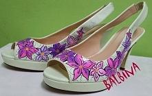 hand painted shoes - szpilk...