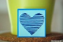 Karteczka z motywem serca z...