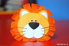Lew - papierowa opaska na głowę