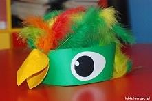 Papuga - papierowa opaska na głowę