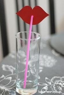 Usta - dekoracyjne słomki do napojów (DIY)