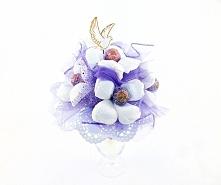 Wyjątkowy bukiet z 5 lizaków Cupa Chups. Idealny prezent na komunię. Więcej na kwiatyupominki.net
