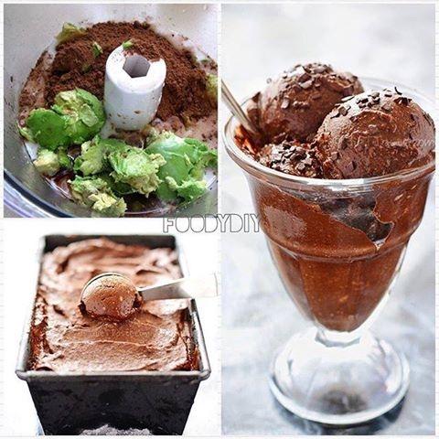 Do zrobienia tych lodów wystarczy zmiksować: 2 banany, awokado i pół szklanki kakao. Włożyć do zamrażalnika i co jakiś czas wyjmować, żeby znów zmiksować - wtedy będą puszyste <3 :D PRZEPIS OD: Dieta bez diety ;)