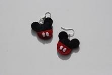 """""""Sfochany Miki"""" - własnoręcznie wykonane filcowe kolczyki"""