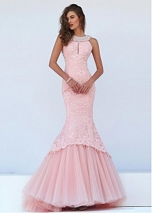 Fantastic Tulle & Satin Evening Dresses With Lace Appliques