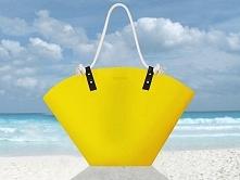 Żółty koszyk plażowy i nie tylko