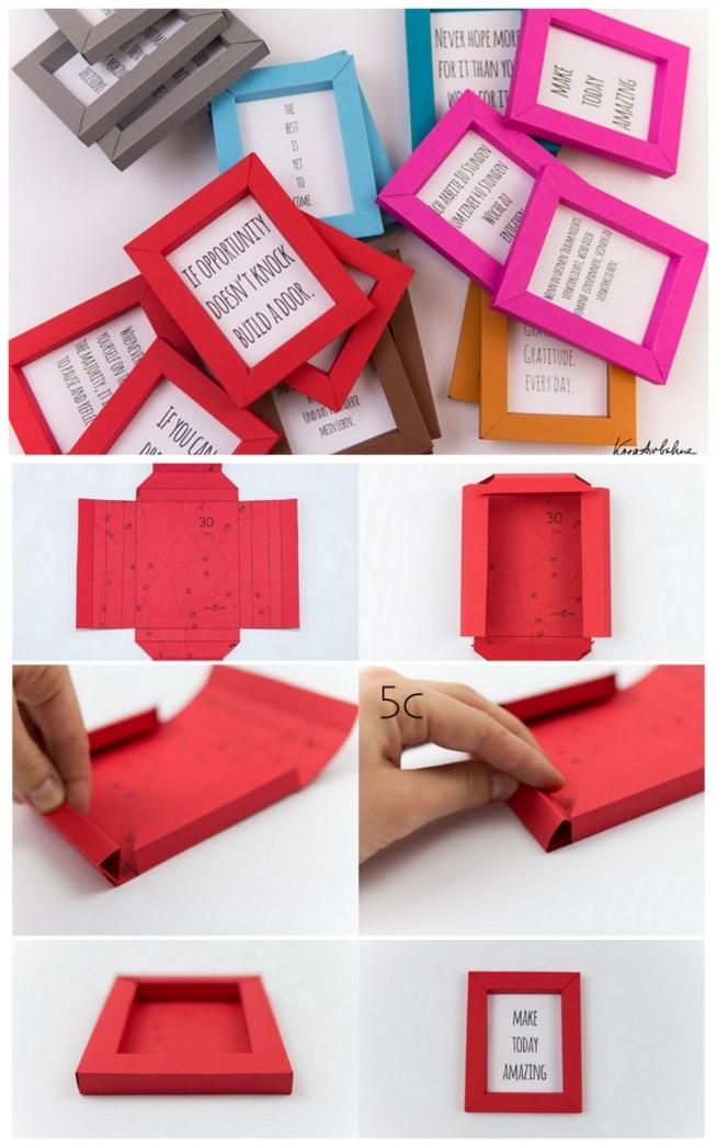 własnoręcznie zrobione ramki z kartonu