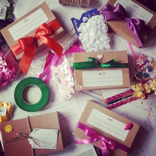 pudełeczka od zaproszeń ślubnych