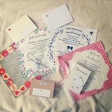 materiałowe zaproszenia ślubne