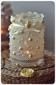 *** koronkowa świeczka HM/DIY ***