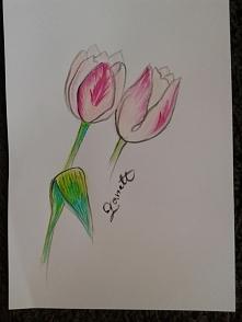 """""""tulipany""""...co zmienić? Zaczynam uczyć się rysunku z połączeniem a..."""