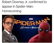 "Robert Downey jr. w ""Spider-Man: Homecoming"". :3"