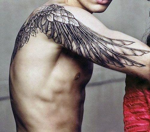 Tatuaże Męskie Skrzydło Na Tatuaże Zszywkapl