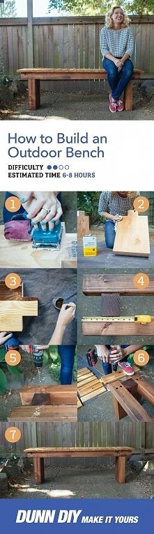 Szybka i prosta budowa ławki