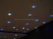 gwiezdne niebo na suficie w korytarzu, sufit z gwiezdnym niebem e-technologia...