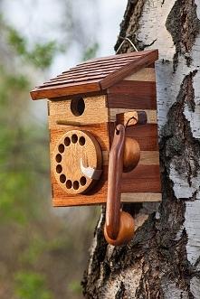 Domek dla ptaków stylizowan...