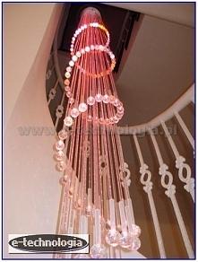 wnętrze korytarza lampa led...