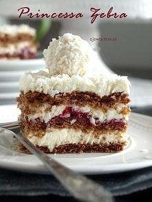 Ciasto Princessa Zebra - bez pieczenia Składniki: (na formę 21 x 21 cm) masa ...