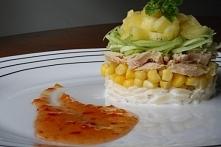 Sałatka z tuńczykiem i orzo z twistem