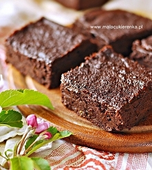 PROSTE BROWNIES z fasolą be...