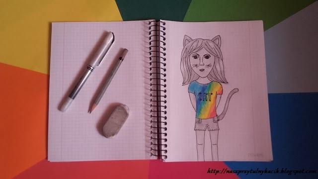 Dziewczyna z uszami kota- Nowy post na blogu! naszprzytulnykacik.blogspot.com