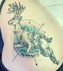 jeleń tatuaż
