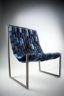 jeansowe krzesło