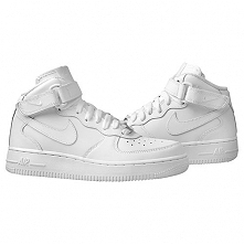 """Nike Air Force 1 Mid (GS) """"All White"""""""