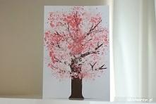 Filmik prezentujący sposób tworzenia drzewa kwitnącej wiśni - z wykorzystaniem farb i folii bąbelkowej ;)