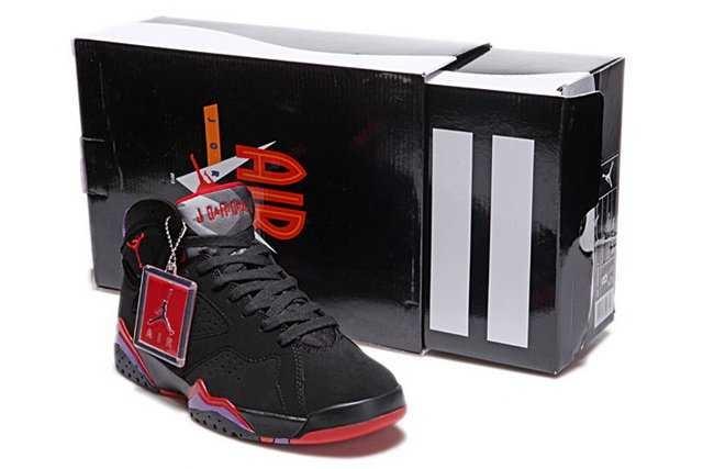 Nike Air Jordan 7 Mens Shoes Black Red Purple 2773N7,Nike