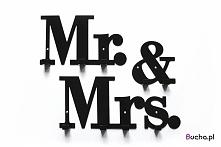 wieszak z napisem Mr.&Mrs. składa się z 3 osobnych części, dzięki czemu m...