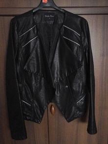 Sprzedam! czarną kurtkę skórzana, nowa, rozm. M. Cena 60 zł + 6,30 koszt przesyłki.