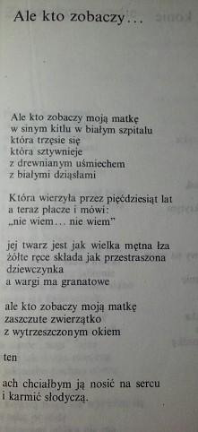 Tadeusz Różewicz. Ale kto z...