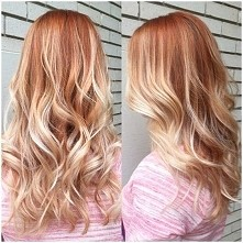 Truskawkowy Blond - owocowy powiew lata w Tym sezonie, koloryzacja z lekkimi tonami rozu :D