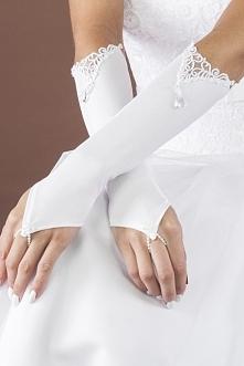Rękawiczki do ślubu dla Panny Młodej