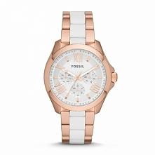 Zegarek damski biało-złoty wodoodporny Fossil AM4546 Możliwość zakupu, link w komentarzu :)
