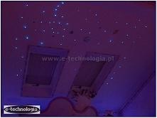 Projekt sypialni na poddaszu - wystrój małej sypialni - projekt małej sypialni - projekt sypialni z garderobą - projekt sypialni fiolet - inspiracje sypialnia kolory  e-technolo...
