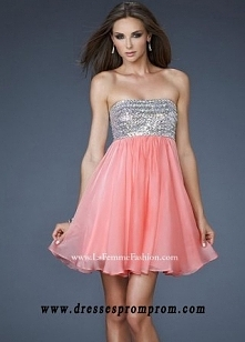 Coral Beaded Strapless Straight Top Sale Short Party Dresses for Cheap
