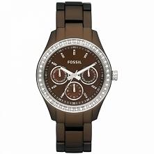 Zegarek damski na brązowej bransolecie Fossil ES2949  Możliwość zakupu, link w komentarzu :)